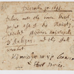 Charles I's request