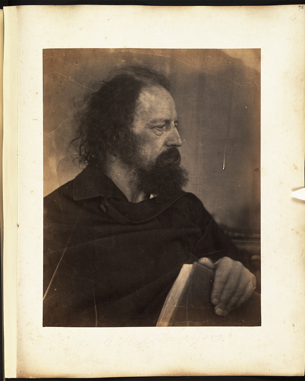 Photo of Alfred Tennyson by Julia Margaret Cameron