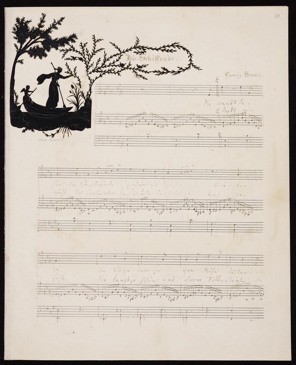 Fanny Hensel, 'Die Schiffende', an autograph fair copy