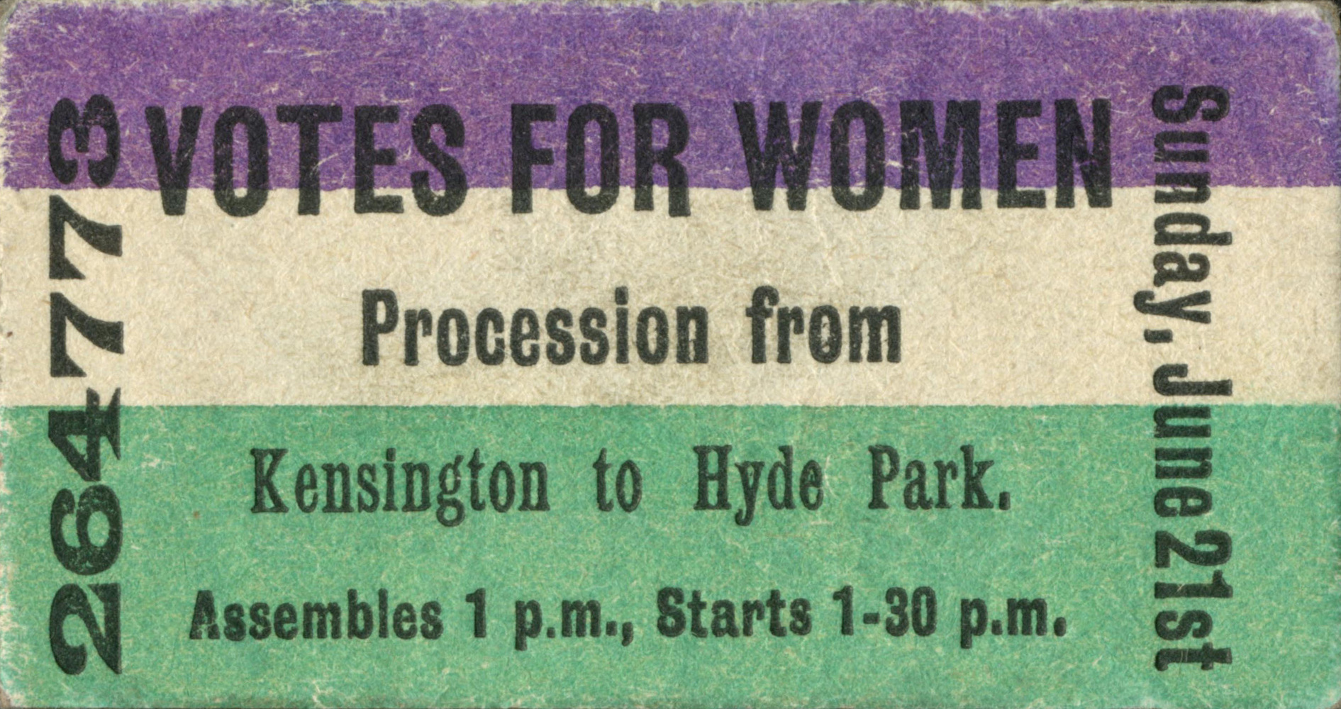 Votes for women ticket