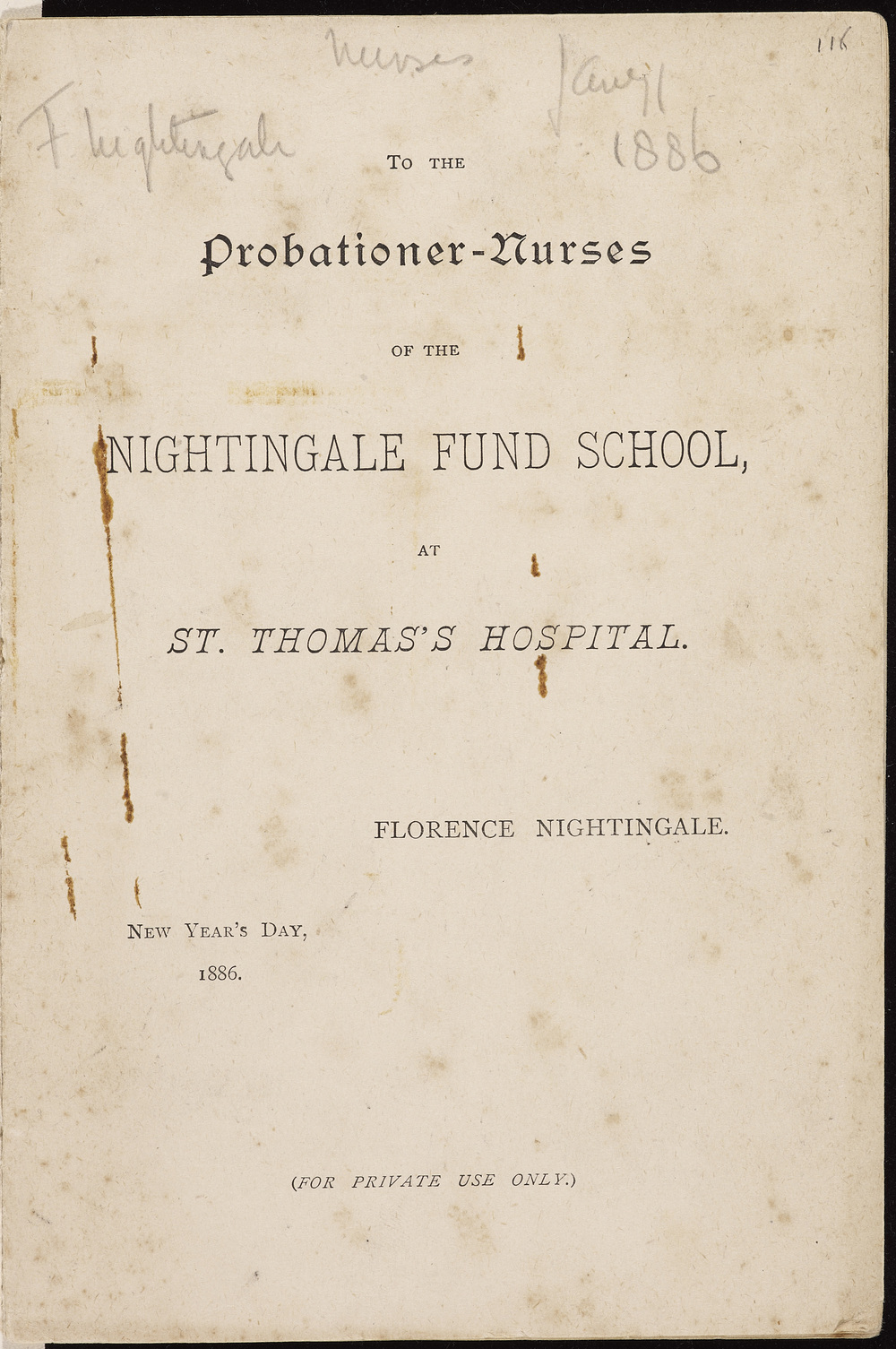 Letter from Nightingale to Acland