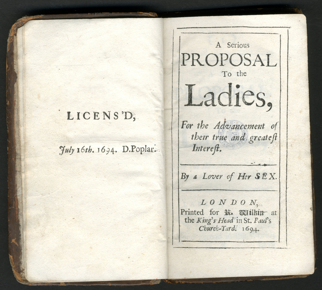 Mary Astell, A serious proposal to the ladies