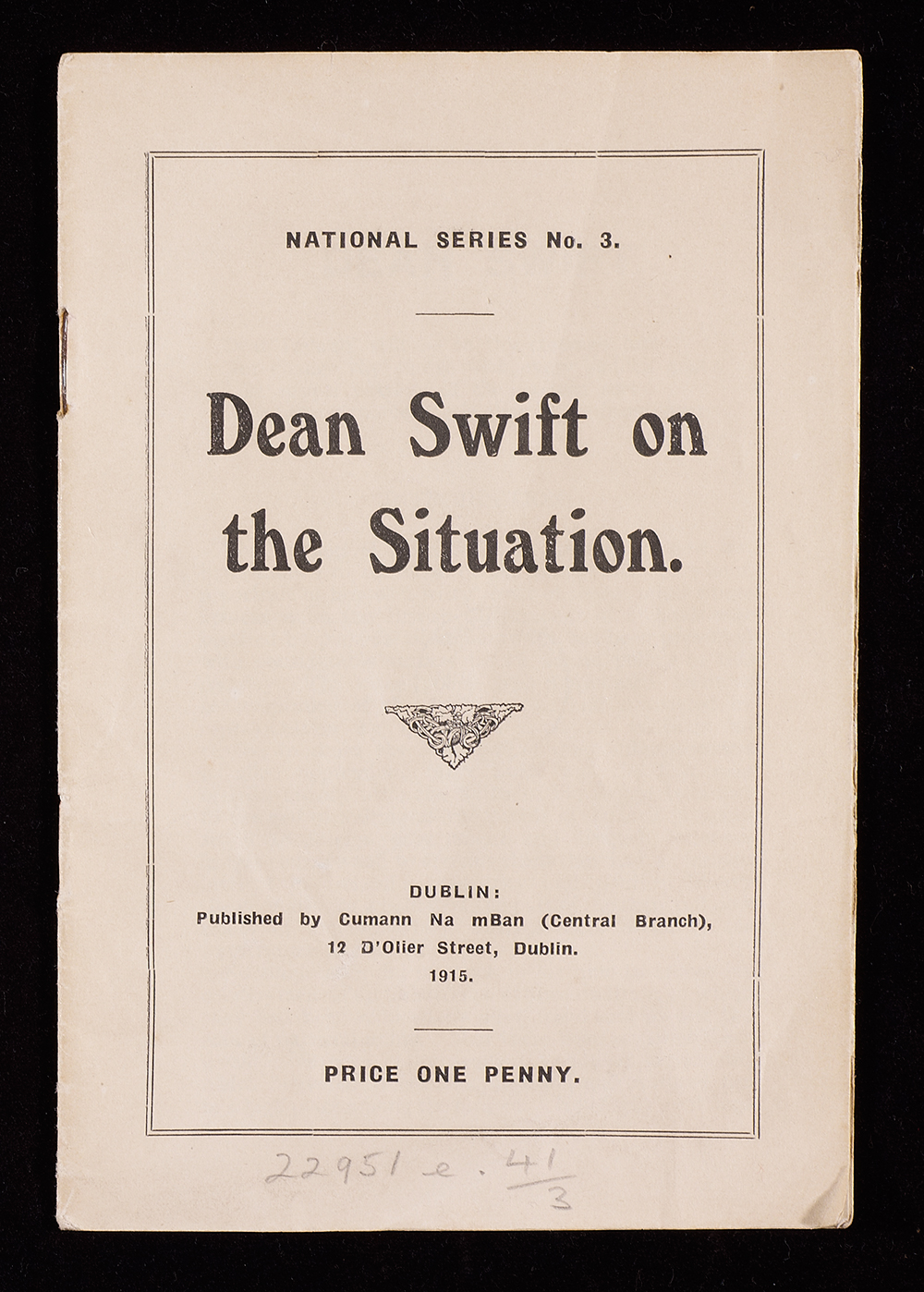 Dean Swift on the situation pamphlet