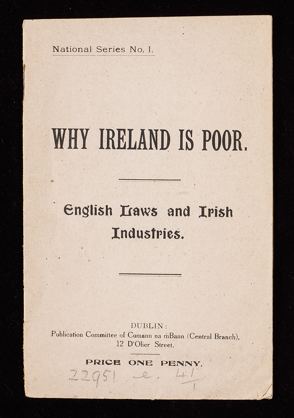Why Ireland is poor pamphlet