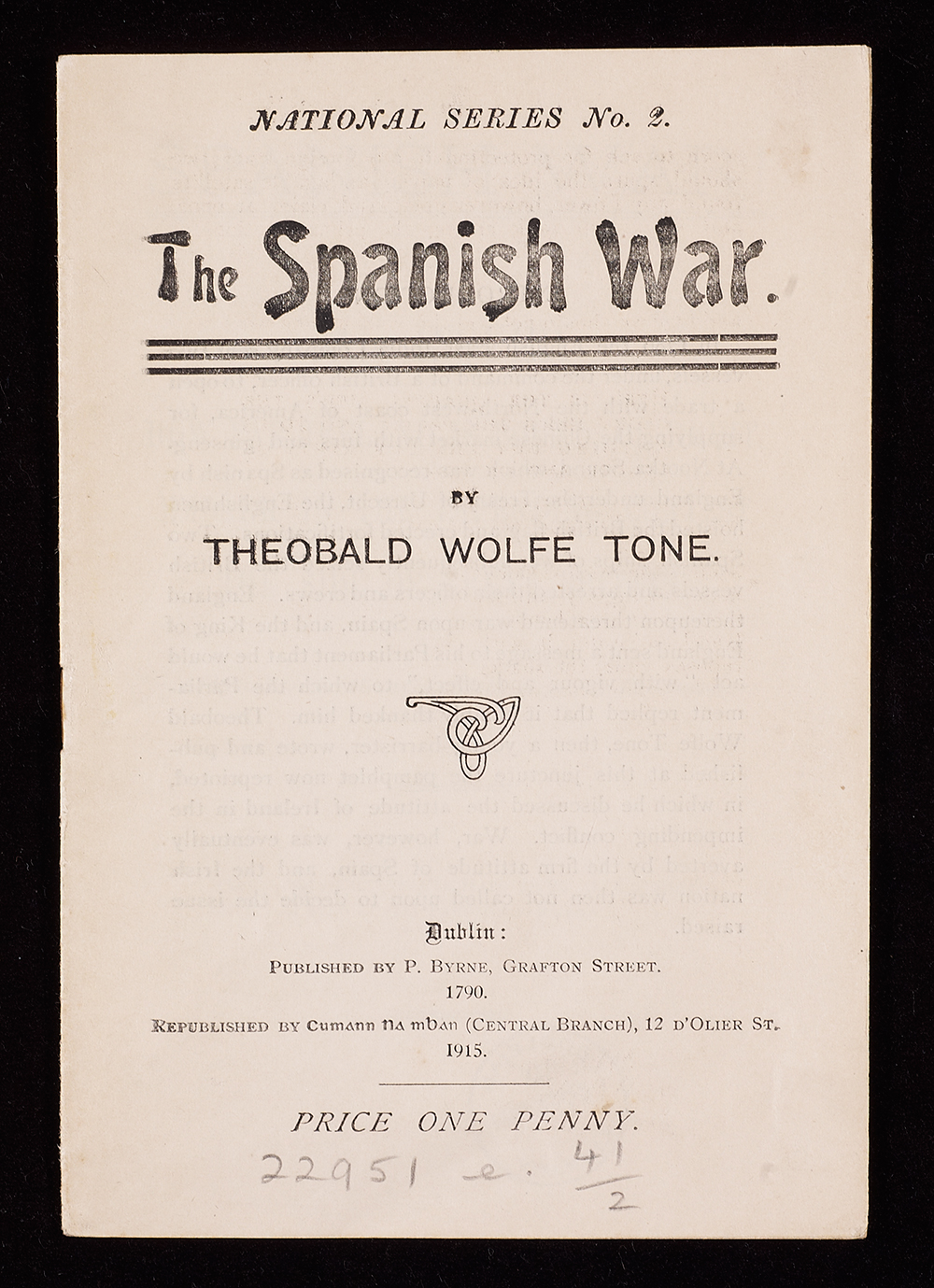 The Spanish War pamphlet