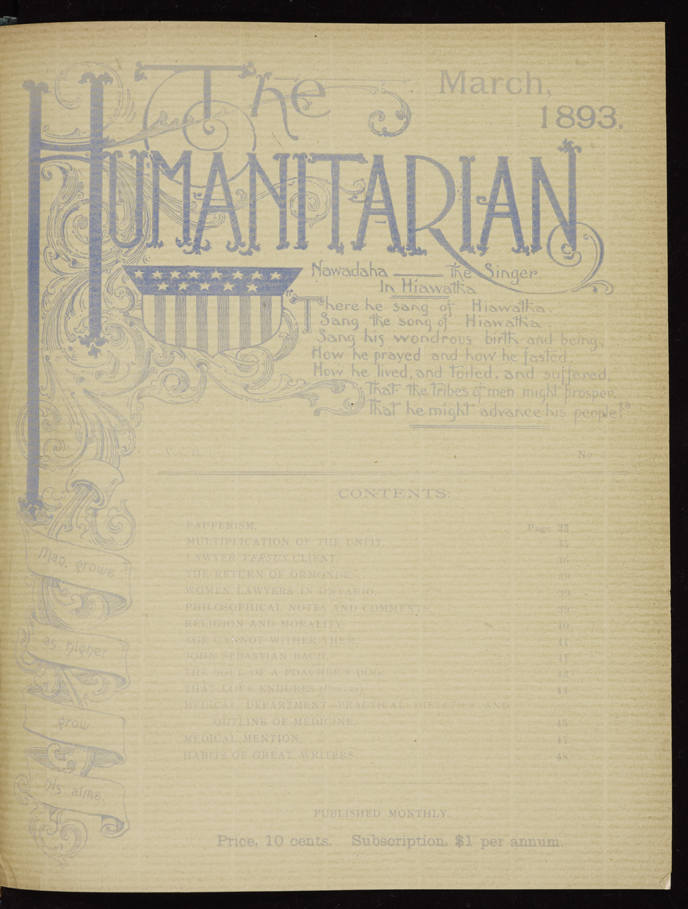 The Humanitarian, March 1893