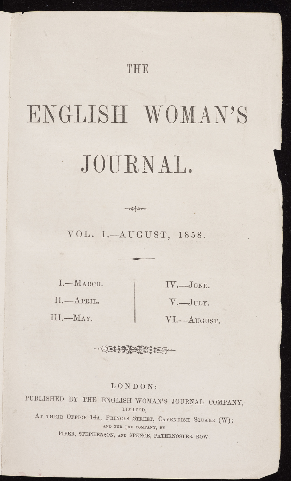 The English Woman's Journal, 1858