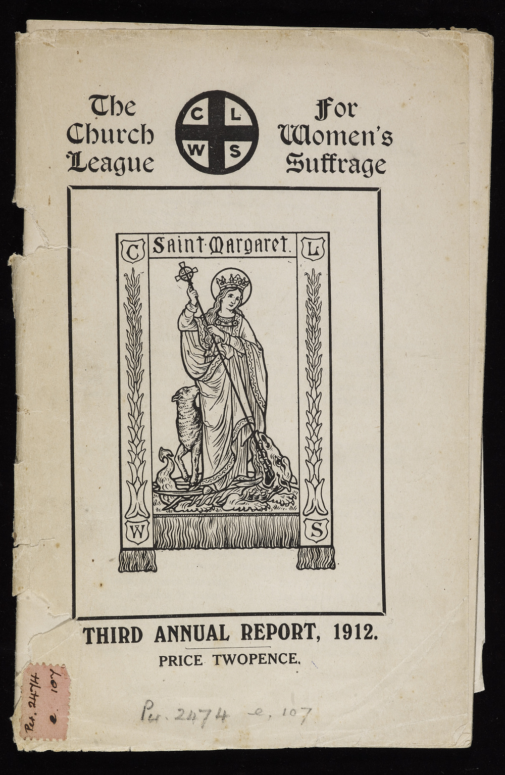 The [Anglican] Church League for Women's Suffrage, third annual report, 1912