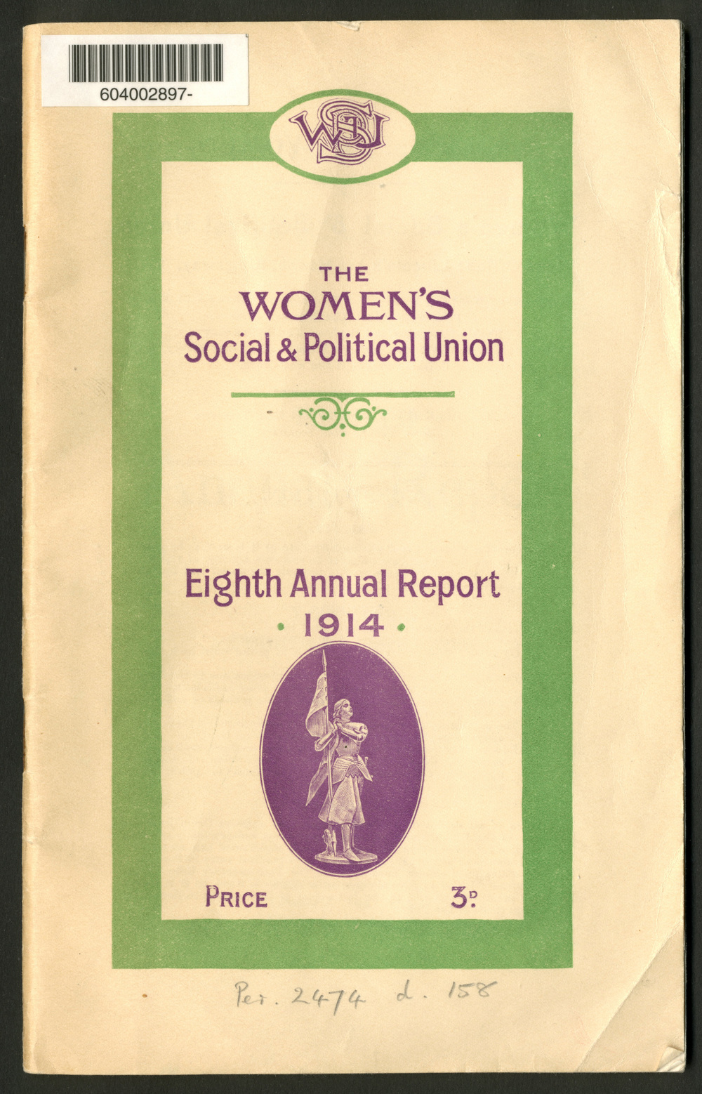 The National Women's Social and Political Union, eighth annual report