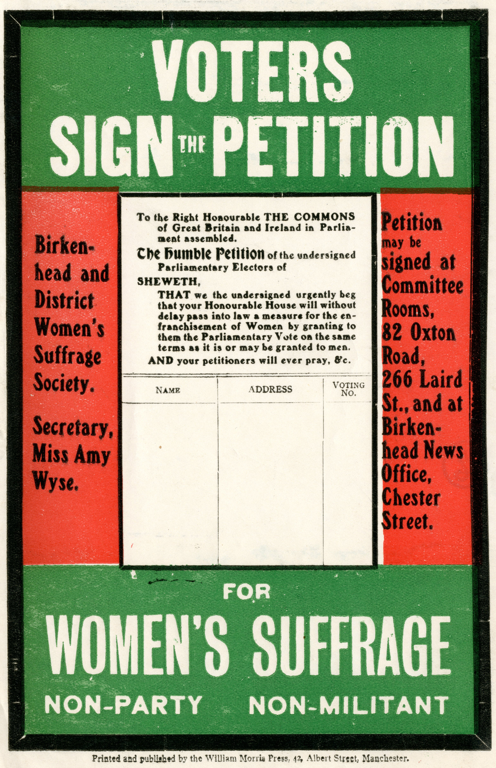 Pamphlet, Voters Sign the Petition, 1910