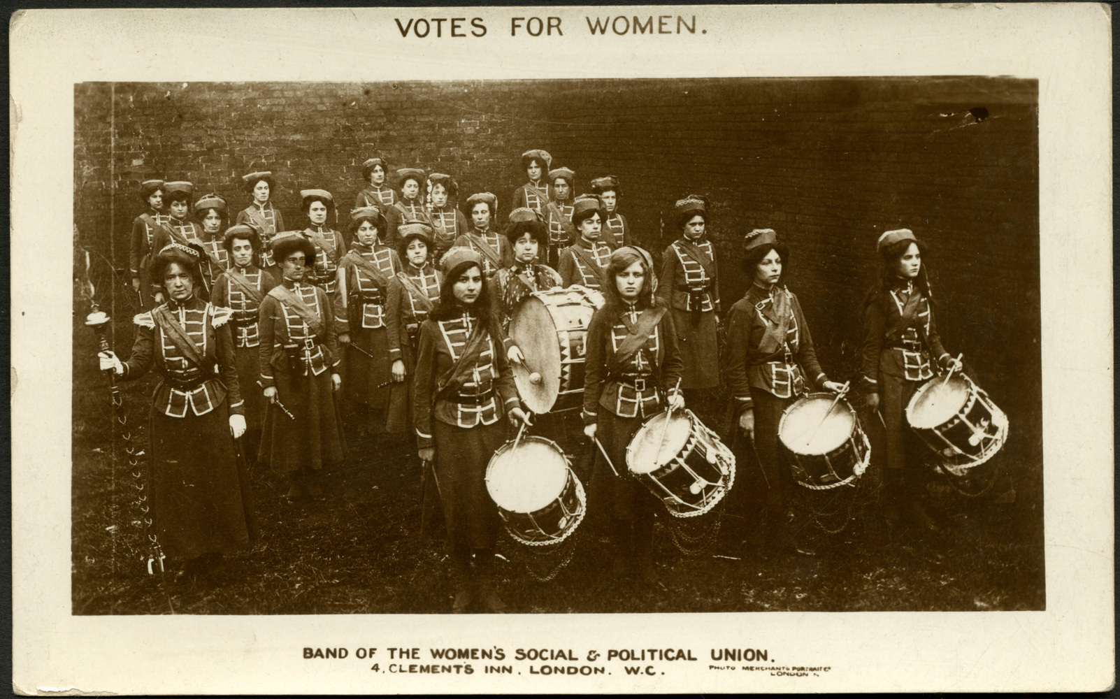 Postcard, Band of the WSPU, c. 1910