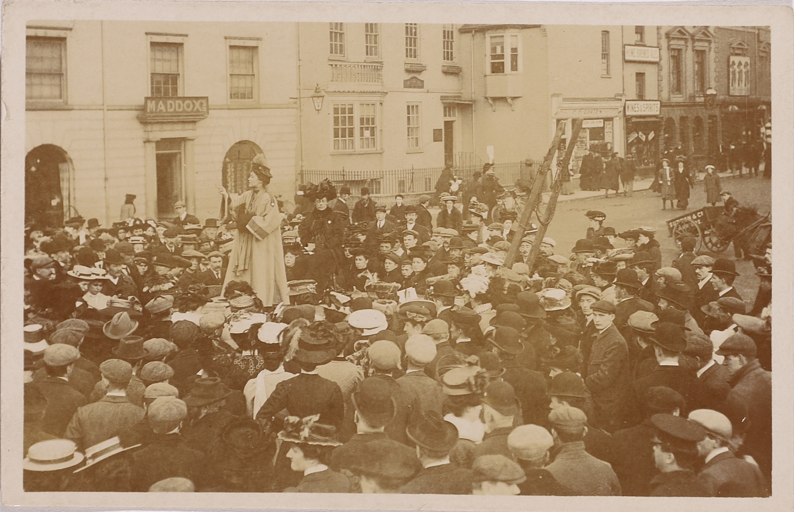 Mrs Pankhurst at Hereford. St. Peter's Square