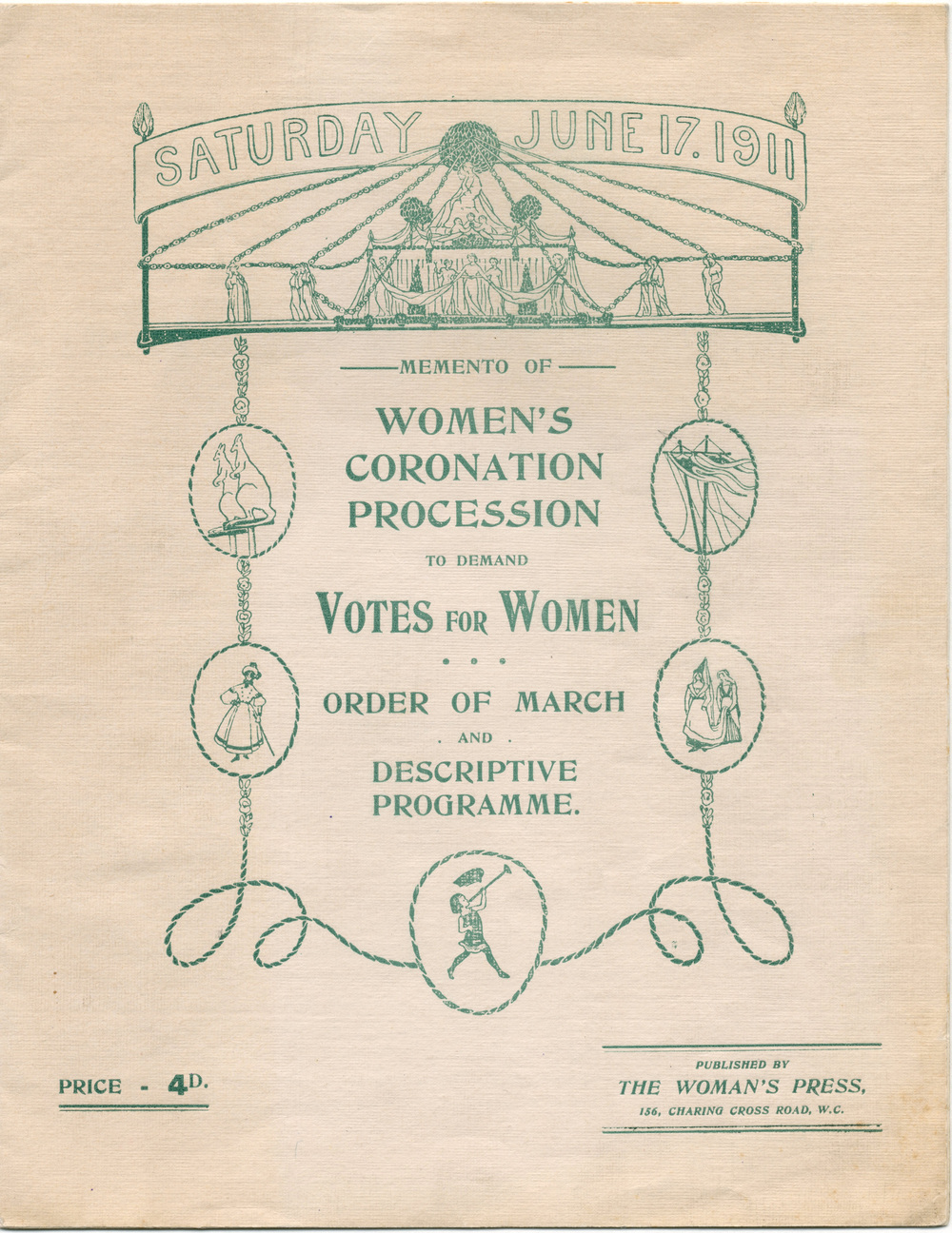 Memento of Women's Coronation Procession (17 June 1911)